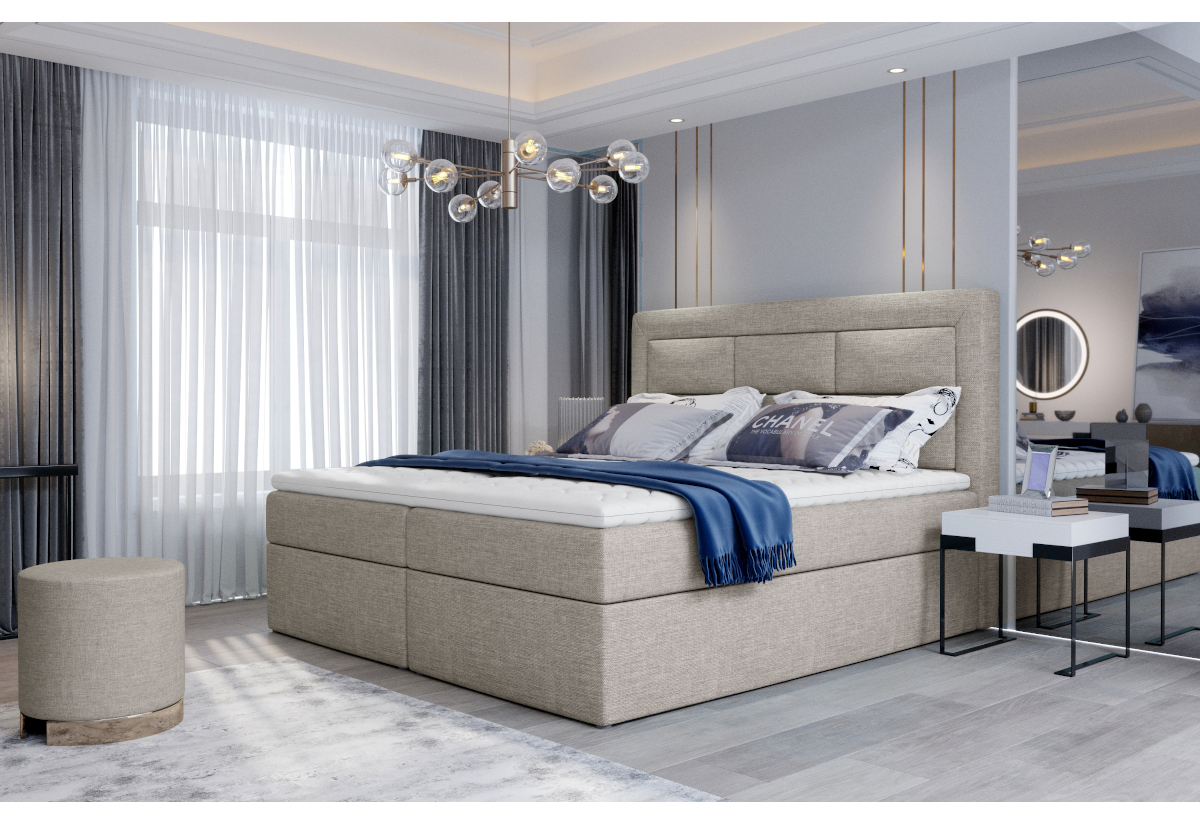 Čalouněná postel boxspring VIVRE, 180x200, cover 02