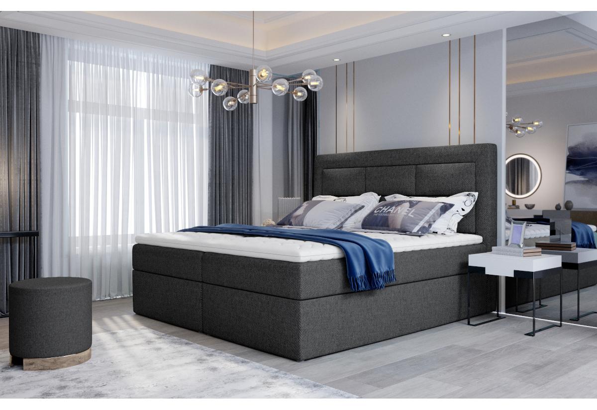 Čalouněná postel boxspring VIVRE, 180x200, inari 96
