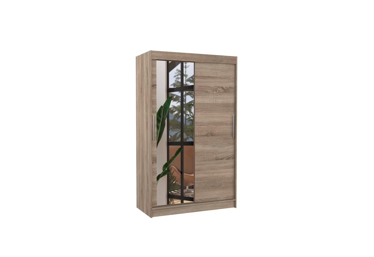 Posuvná skříň se zrcadlem BARIO, 120x200x58, trufla