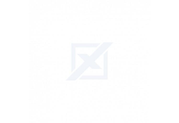 Obývací stěna NORDI - bílá lesk/dub riviera