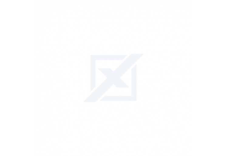 Vitrína NORDI NWT90 - bílá lesk/dub riviera